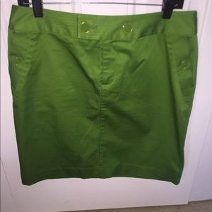 New Banana Republic Buttoned Green Sz 8 Mini Skirt